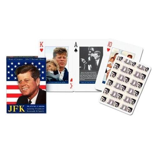 Piatnik игральные карты Президент Кеннеди и его семья + бархатный мешочек 55 шт. серый
