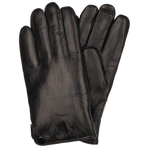 Перчатки Мужские / Натуральная кожа / Подклад Натуральный мех / Chansler / Черный / ART114 / Размер 11,5