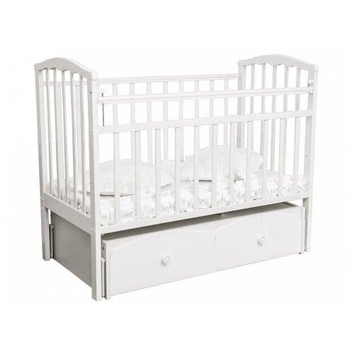 Купить Кровать Золушка -7 маятник поперечный, ящик (52104, белый), Агат, Кроватки
