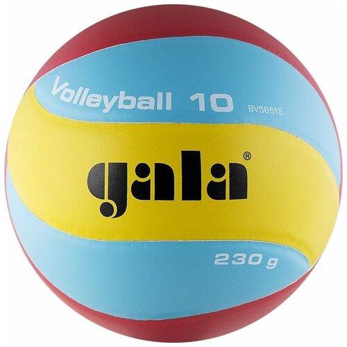 Волейбольный мяч Gala Light 10 BV5651S желтый/голубой/красный