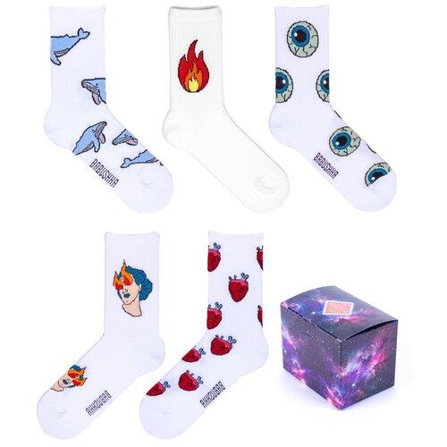 Спортивные носки Babushka, набор носков с принтом, 3 пары в коробке, размер 36-39, SPB5-3