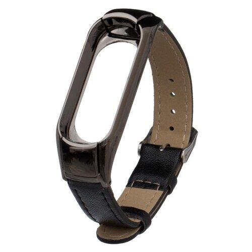 Фото - Aксессуар Ремешок Activ для Xiaomi Mi Band 3 / Mi Band 4 Leather Black 108329 сменный корпус xiaomi mi band 2 leather black