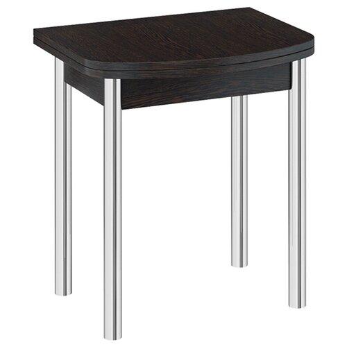 Стол кухонный ТриЯ Лион мини, раскладной, ДхШ: 55 х 70 см, длина в разложенном виде: 110 см, венге