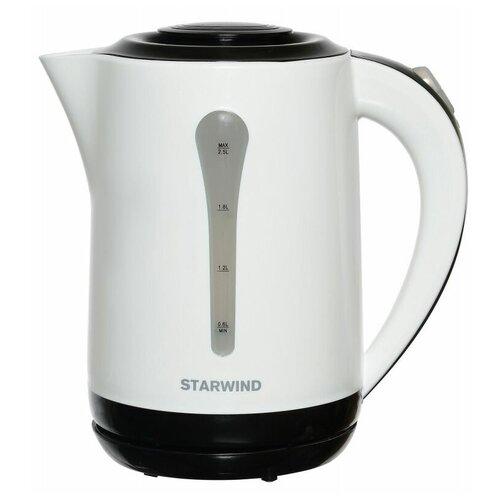 Фото - Чайник STARWIND SKP2212, черный/белый чайник электрический starwind skp2212 белый черный