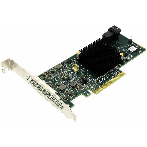 Фото - Контроллер SAS/SATA RAID LSI Logic MegaRAID SAS 9341-4i зеленый sas sata raid контроллер