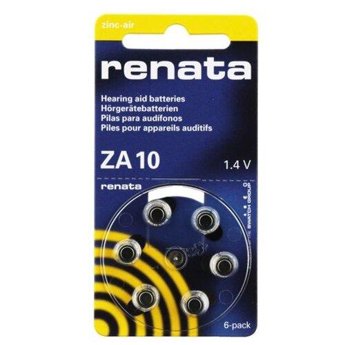 Фото - Батарейки Renata ZA10 (6 штук) батарейки perfeo za312 6bl airozinc premium 6 штук