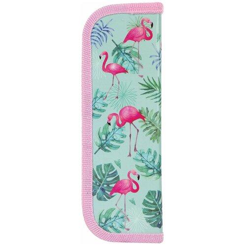 Юнландия Пенал Flamingo (229144), голубой/розовый недорого