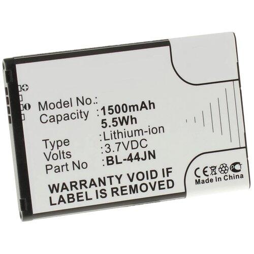 Аккумулятор iBatt iB-U2-M344 1500mAh для LG P970, E730, E405, Optimus L5, Optimus II, Optimus L3, E610, E400 Optimus L3, L3 II, P690,
