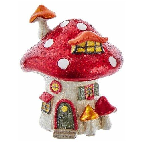 Ёлочная игрушка МУХОМОРЧИК-ТЕРЕМОК с мансардой, полистоун, 9.5 см, Kurts Adler D3766-1 недорого