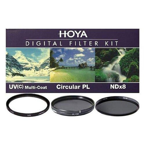 Фото - Набор светофильтров Hoya DIGITAL FILTER KIT: 49mm UV HMC MULTI, PL-CIR, NDX8 кейс для светофильтров hakuba kcs 35 yellow