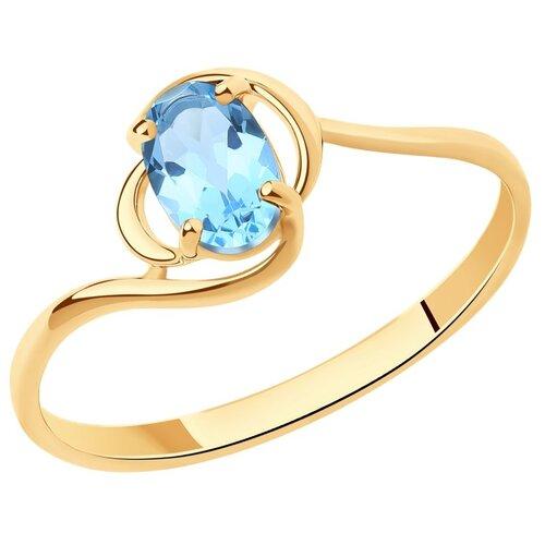 Diamant Кольцо из золота с топазом 51-310-00972-1, размер 17 diamant кольцо из золота с топазом 51 310 00971 1 размер 17
