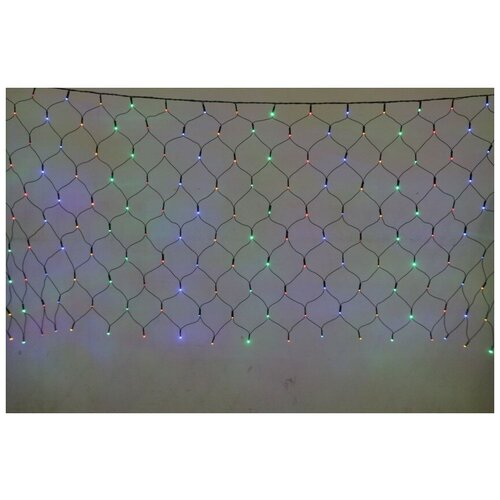 Электрическая LED-гирлянда, 200 лампочек, многоцветная
