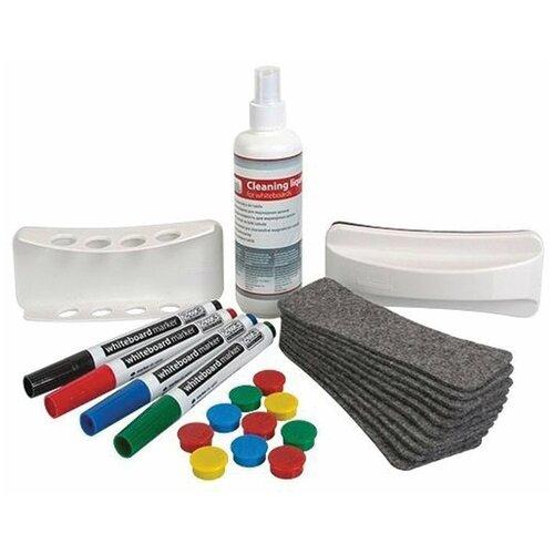 Набор для магнитно-маркерной доски (4 маркера, держатель, чистящее средство, стиратель, салфетки), «2×3» (Польша), AS111