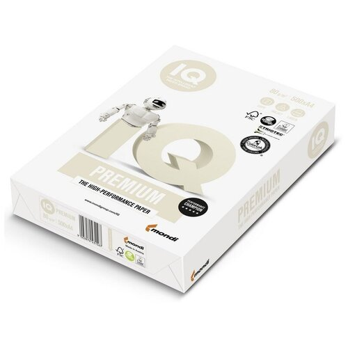 Фото - Бумага IQ Premium, А4, марка А+, 80 г/м2, 500 листов бумага iq allround а4 марка в 80 г м2 500 листов