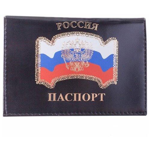 Обложка для паспорта OfficeSpace, натуральная кожа тип 2, тиснение