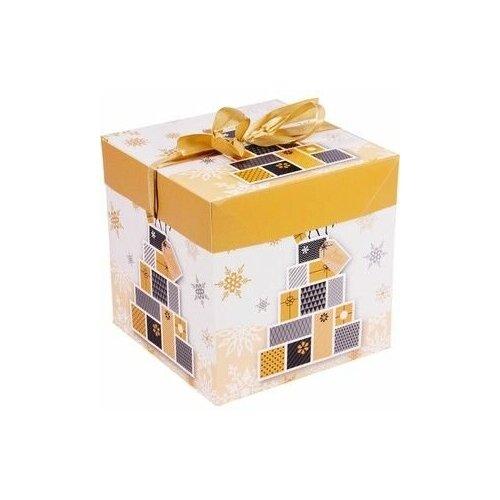 Подарочная коробка элегантное рождество (с оленем), 16.5 см, Due Esse Christmas (FB2-1826)FB3-1925-3