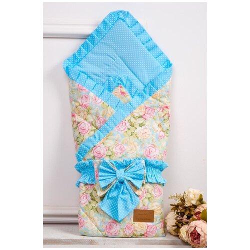 Купить Конверт-одеяло Amarobaby Happy Сказка 93 см бирюзовый, Конверты и спальные мешки
