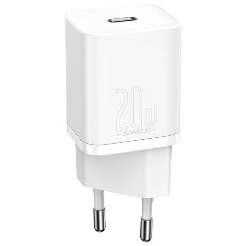 Фото - Сетевое зарядное устройство Baseus Super Si Quick Charger 1C 20W EU White (CCSUP-B02) зарядное устройство baseus compact quick charger u c 20w eu black ccxj b01