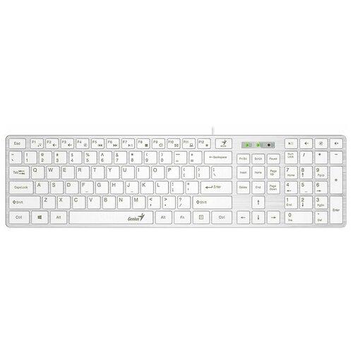 Клавиатура проводная Genius Slimstar126 White