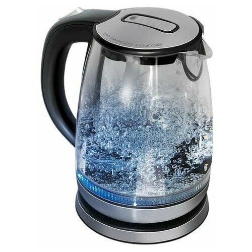 Чайник REDMOND RK-G167, серебристый/черный