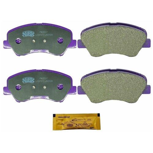Дисковые тормозные колодки передние NIBK PN0537 для Hyundai Solaris, Kia Rio (4 шт.)