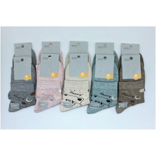 Носки женские Alina CC2075 10пар, голубые, розовые, серые, бежевые, коричневые, размер 36-41