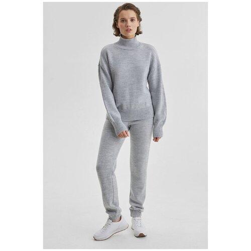 Костюм: свитер оверсайз и брюки K-713-PHR-386 Пепельно-серый (AW21/22) Серый 44-46