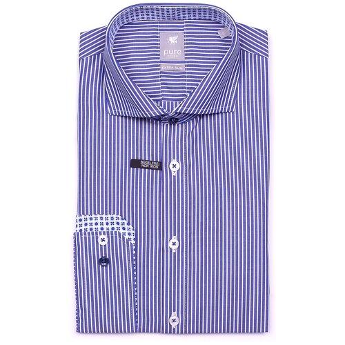 Рубашка pure размер S синий/белый