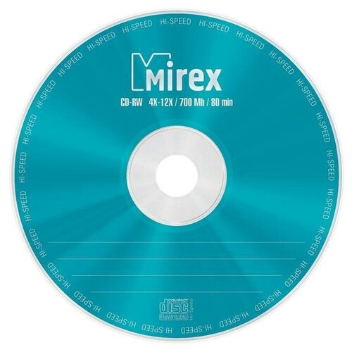 Фото - Оптический диск CD-RW Mirex 700Mb, 4-12x, cake box, 25шт. (UL121002A8M) оптический диск cd rw mirex 700mb 4 12x cake box 10шт ul121002a8l