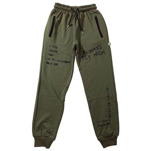 Купить Спортивные брюки Папитто размер 134-140, хаки, Брюки