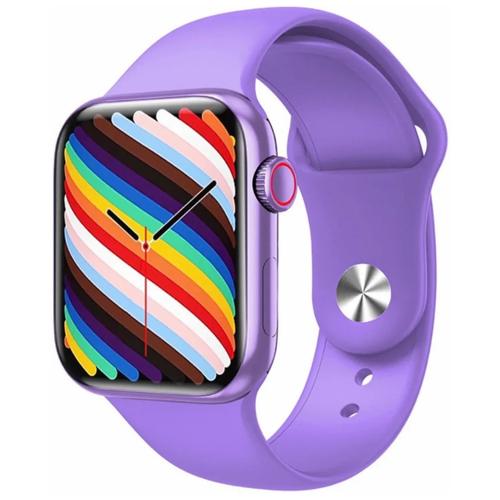 Умные часы IWO HW19 Series 6, два ремешка, 44мм, фиолетовые