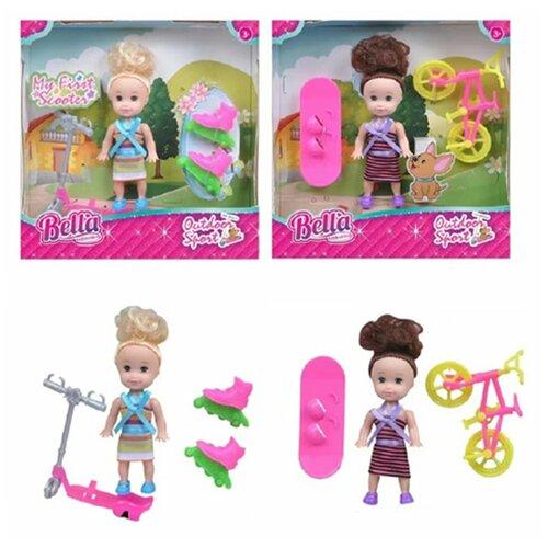 Фото - Игровой набор На прогулке, в компл., кукла 8см, предм. 3-4шт. Shantoy Gepay H137 кукла наша игрушка на прогулке 15 см лошадка