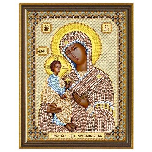 Фото - Набор для вышивания бисером Нова Слобода Пресвятая Богородица Иерусалимская, 13х17 см (арт. С6011) наборы для вышивания бисером нова слобода с 6169 св мч софия 13х17 см