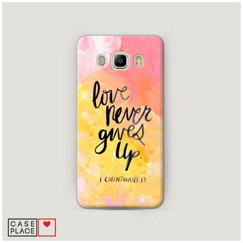 Чехол Пластиковый Samsung Galaxy J5 2016 Цитата на акриле