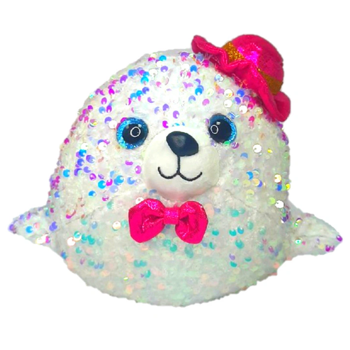 Мягкая игрушка Тюлень, 23см, цвет белый