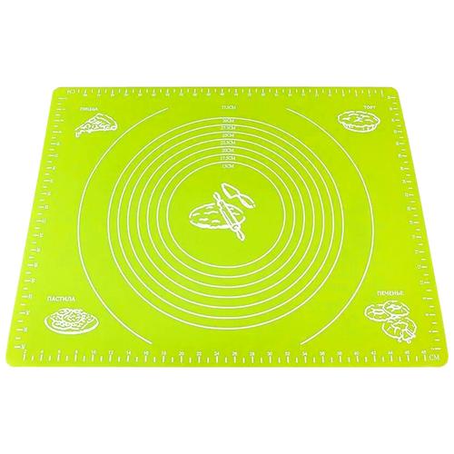 Коврик для выпечки силиконовый Skiico Kitchenware 40х60см / Коврик для раскатки теста Зеленый