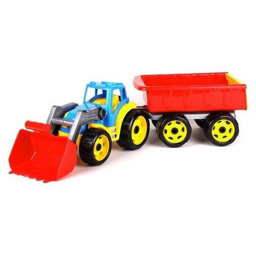трактор с прицепом игрушка efko трактор с прицепом игрушка Игрушка «Трактор с ковшем и прицепом Технок»
