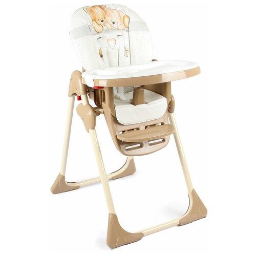 стул для кормления globex космик new белый Стул для кормления Globex Космик коллекция Мишки, бежевый