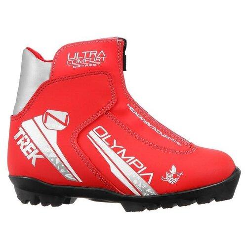 Trek Ботинки лыжные женские TREK Olympia1 красный (лого серебро) N р.34
