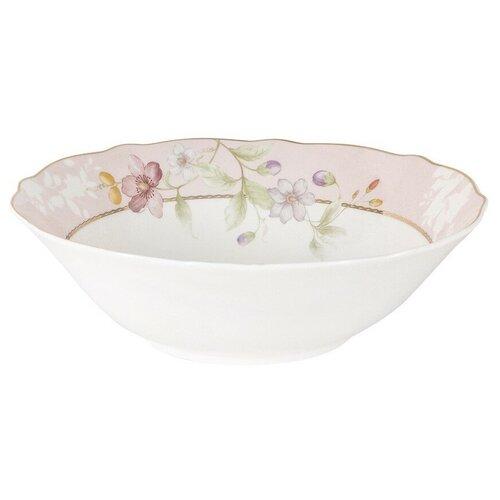 Фото - Салатник Цветы 23 см объем 1200 мл, костяной фарфор, Anna Lafarg Emily, AL-M2124_BB-E9 салатник anna lafarg emily magnolia 14 см 750 мл