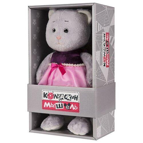 Купить Мягкая игрушка Мышель в Фиолетовом Платье, 20 см, Колбаскин&Мышель MaxiToys MT-MRT062001-20, Колбаскин & Мышель, Мягкие игрушки