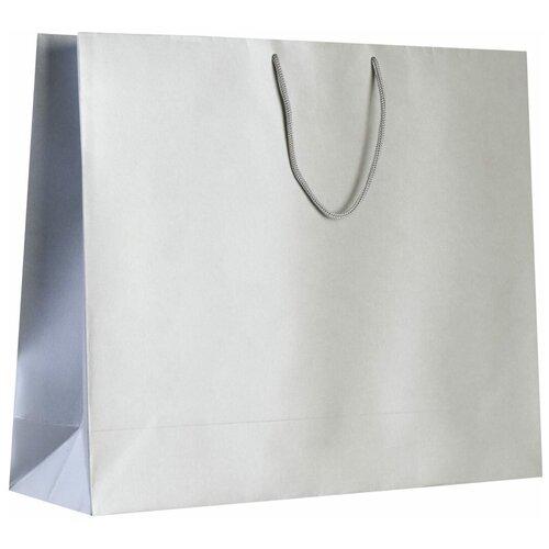 Пакет подарочный Комус Блеск, большой, серебристый