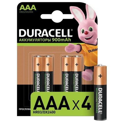 Фото - Аккумулятор DURACELL AAA/HR03-4BL 900mAh бл/4шт батарея duracell ultra power lr03 4bl aaa 4шт
