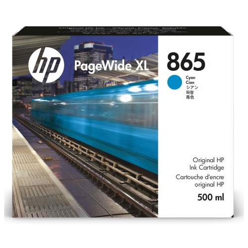 Фото - Картридж лазерный HP 865 для PageWide XL 4200/5200, cyan контейнер для очистки hp 841 pagewide xl