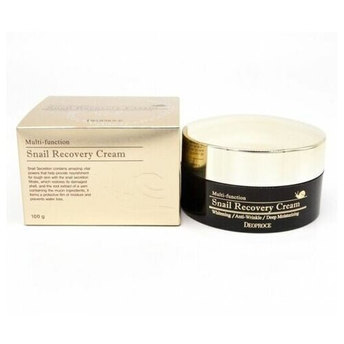 Deoproce Snail recovery cream, 100г Крем восстанавливающий с муцином улитки крем с фильтратом слизи улитки deoproce snail recovery cream