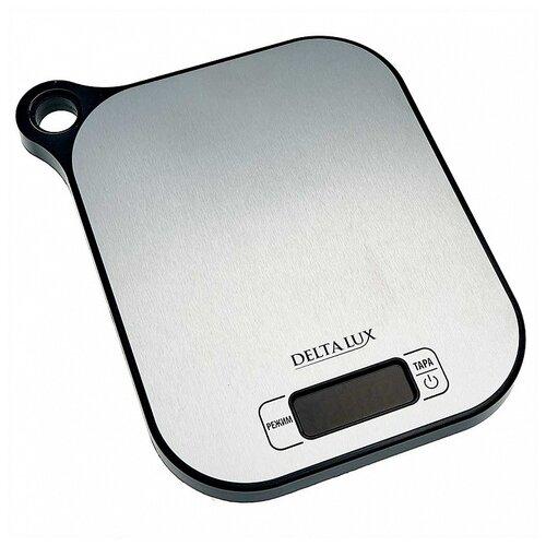 Кухонные весы DELTA LUX DE-001KE серебристый