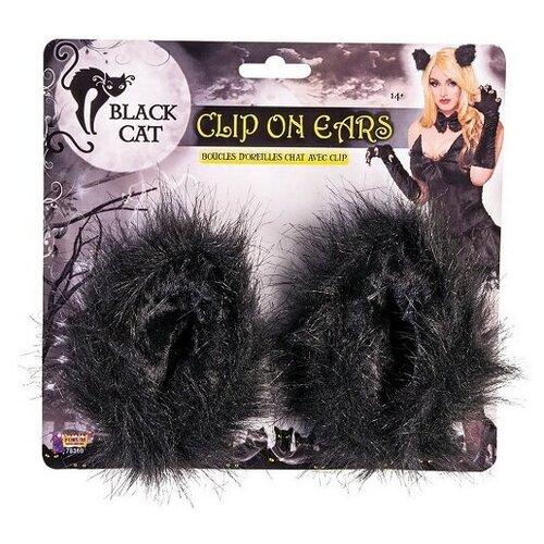 Ушки Черной кошки, на клипсах
