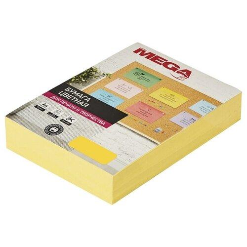 Бумага цветная ProMEGA А4, 80 г, желтый интенсив, пачка 500 листов