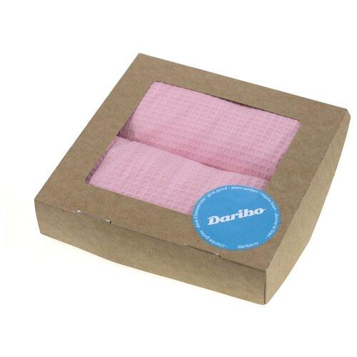 Фото - Набор из 2 салфеток для уборки Daribo SuperWaffle Ligth Pink 50x70 см DA78107 полотенце кухонное мечтай 50x70 см da71231 daribo