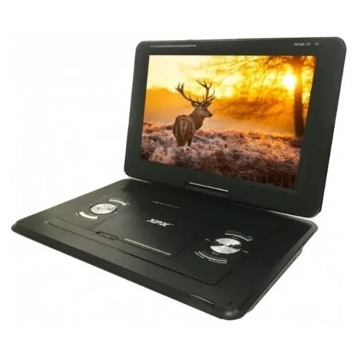 Складной портативный автомобильный цифровой телевизор с DVD плеером XPX-EA1468D DVB-T2 15